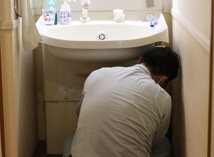 特殊な洗面台の故障にも対応
